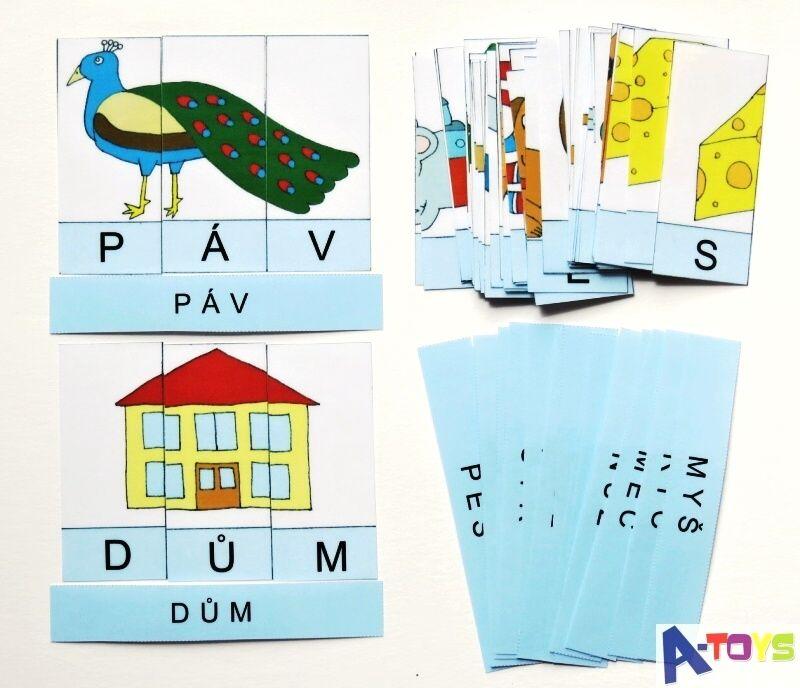 výukové kartičky - SKLÁDAČKA SE SLOVY 1