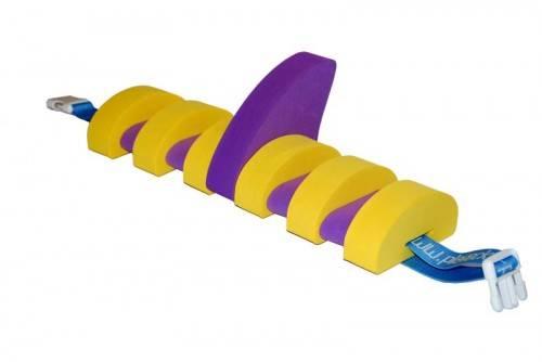 PLAVECKÝ PÁS S PLOUTVÍ (11 dílků) - žluto-fialový - plavecké pomůcky Aronet