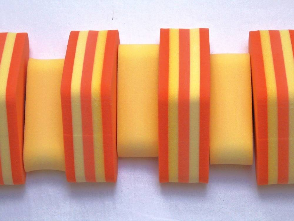 PLAVECKÝ PÁS PRUHOVANÝ - žlutá-oranžová 13 dílků DENA