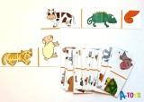 Domino Půlky zvířátek - 40 kartiček