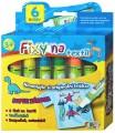 Fixy na textil voděodolné - sada 6 ks