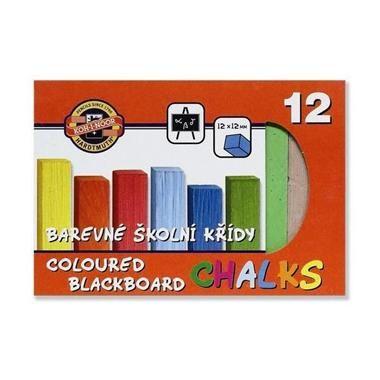Křídy školní barevné - 12 ks Koh-i-noor