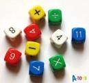 Matematické kostky - sada 10 ks