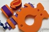 oranžovo- fialová kombinace plavecké pomůcky