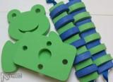 zeleno-modrá kombinace - pásy a destičky