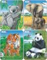 puzzle malé - KOALA, PANDA, TYGR, SLON