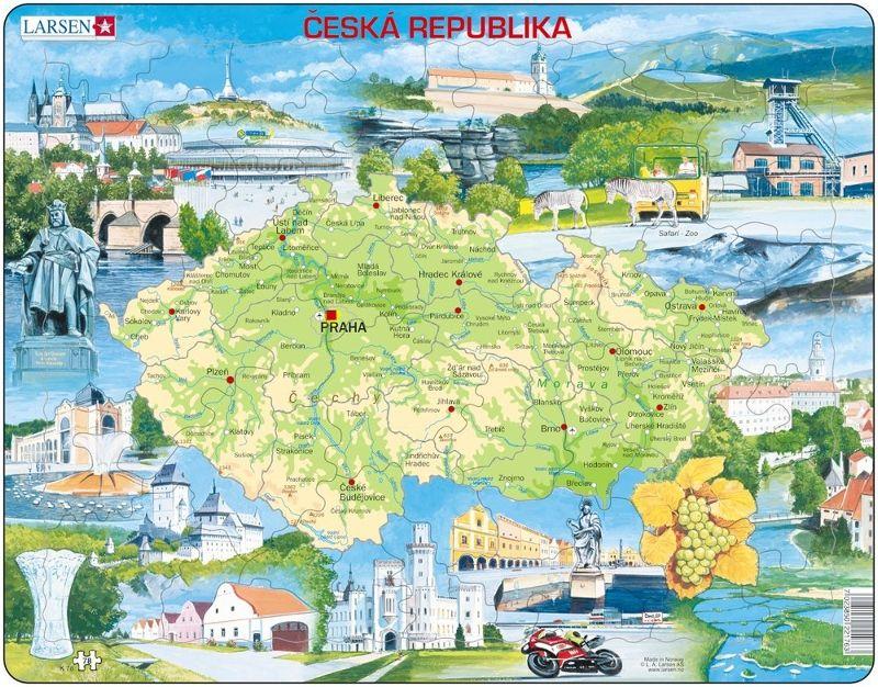puzzle MAPA ČR Larsen