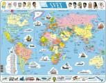 puzzle MAPA SVĚTA (politická) - v češtině