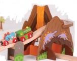 Vláčkodráha DINOSAUŘI - dřevěné vláčky BIGJIGS