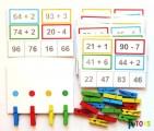 Sčítání a odečítání s kolíčky 2 (složitější)
