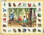 výukové puzzle V LESE (v češtině)
