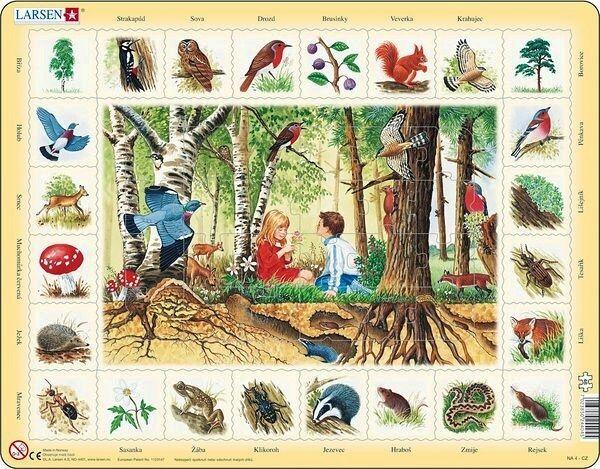 výukové puzzle V LESE (v češtině) Larsen