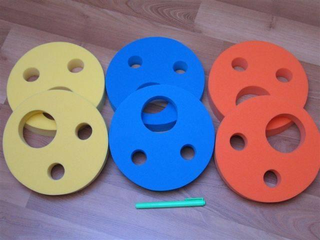 Nadlehčovací kroužky pro děti - žluté DENA