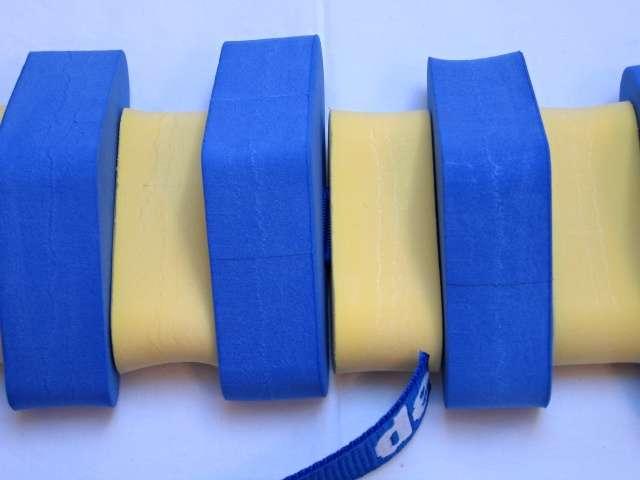 Dena PLAVECKÝ PÁS (ježek) 130 cm - modrá-žlutá