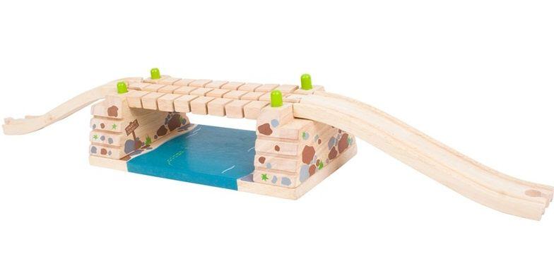 BigJigs Most Klik-klak dřevěné vláčky