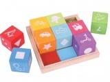Dřevěné kostky barevné s obrázky