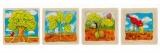 Dřevěné naučné puzzle 4 vrstvy - VÝVOJ STROMU GOKI