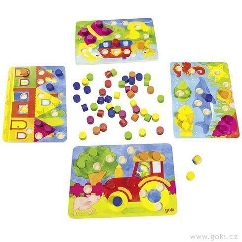 Kostková hra barvičky, 77 dílů (Goki)