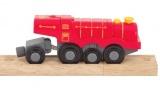 Mašinka na baterie - velká parní lokomotiva červená