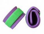 Nadlehčovací rukávky - fialové (zelený zip neon)