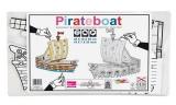 Pirátská loď předkreslená - lepenkový model
