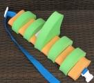 PLAVECKÝ PÁS S PLOUTVÍ (11 dílků) - zeleno-oranžový