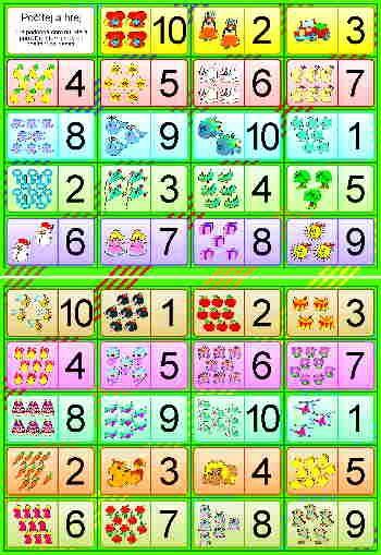 Počítej a hrej - domino čísla počítání Studio 1+1