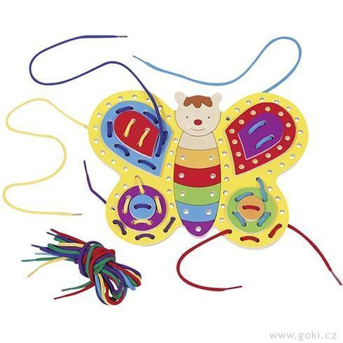 Provlékací hračka – Motýlek (Goki)