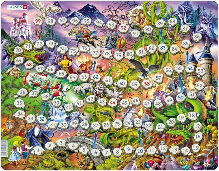 puzzle a hra v jednom - ŽEBŘÍKY, 40 dílků Larsen