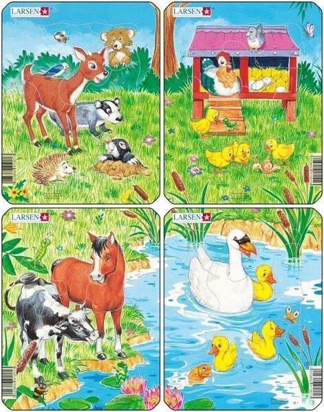 puzzle malé - ZVÍŘÁTKA Z FARMY Larsen