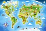 Puzzle MAXI 40 dílků - MAPA SVĚTA