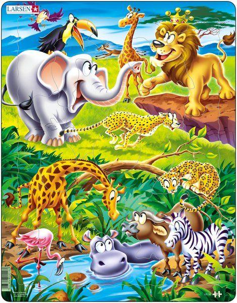 puzzle na podložce Larsen - Safari