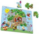 puzzle na podložce Larsen - Strom s dětmi