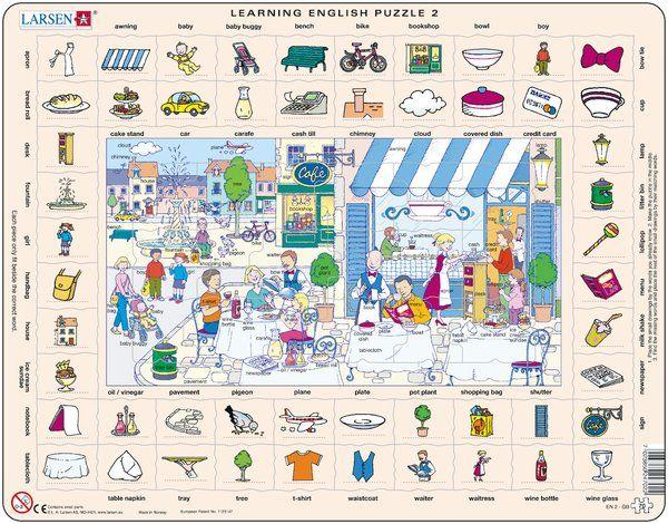 puzzle s angličtinou - NA ULICI Larsen