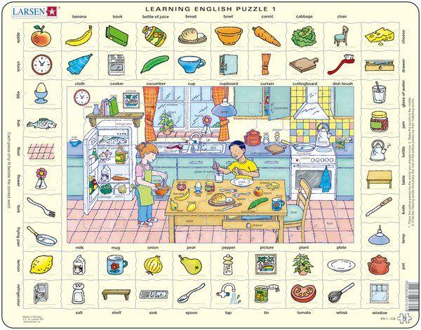 puzzle s angličtinou - V KUCHYNI Larsen