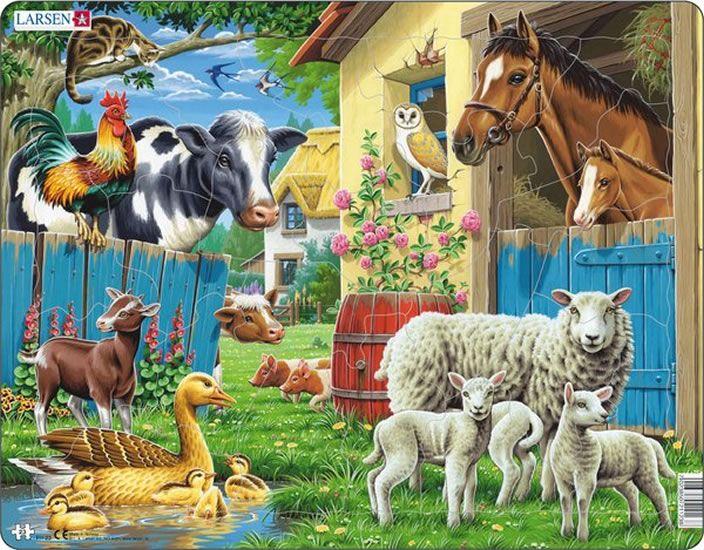 puzzle ZVÍŘÁTKA Z FARMY, 25 dílků Larsen