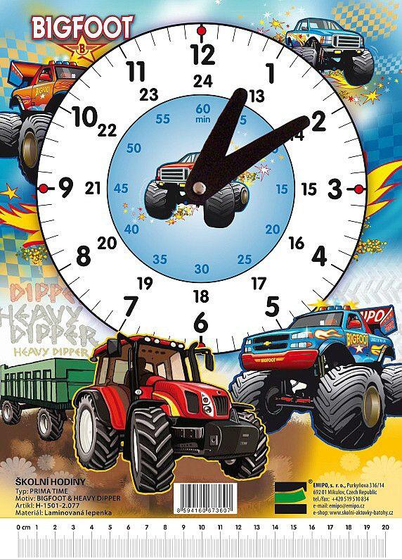 Školní hodiny Bigfoot - Traktor EMIPO