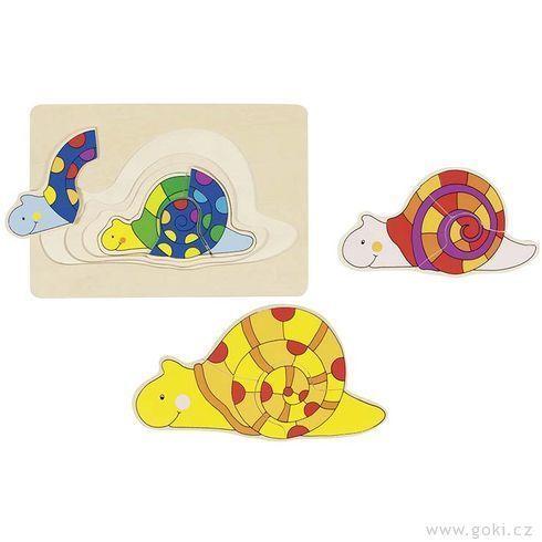 Vícevrstvé puzzle – Šnek (Goki)