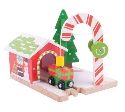 Vláčkodráhy - doplňky - BigJigs Vánoční stanice
