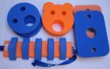PLAVECKÝ PÁS ježek 13 dílků - modrá-oranžová DENA