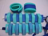 PLAVECKÝ PÁS PRUHOVANÝ ježek - zelená-modrá 13 dílků DENA
