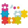 2v1 puzzle s vkládacími dílky TVARY Goki