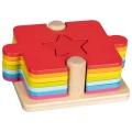 2v1 puzzle s vkládacími dílky TVARY