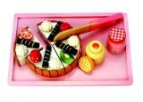 Krájecí dort - sada na tácku (bez nožíku)