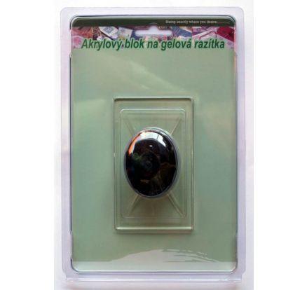 Akrylový blok s úchytkou (na razítka)