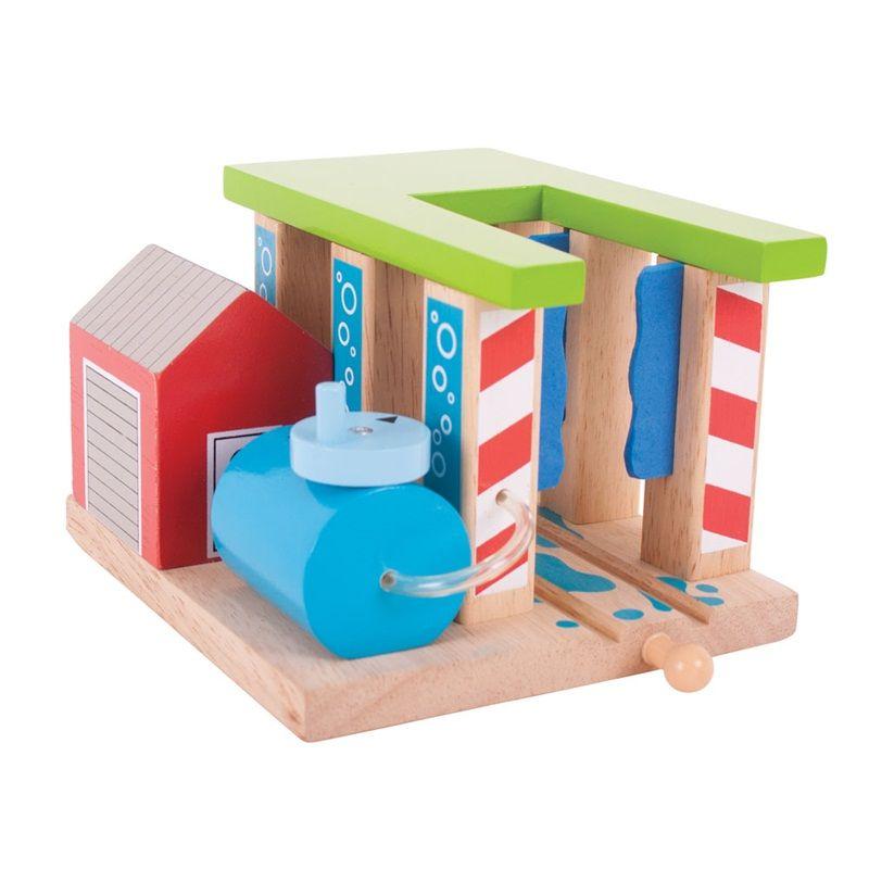 BigJigs, Vlaková myčka - dřevěné koleje BIGJIGS