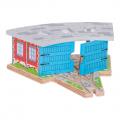 BigJigs Vlakové depo střední - dřevěné vláčky