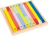 Dřevěná pomůcka tabulka - POČÍTACÍ TYČINKY