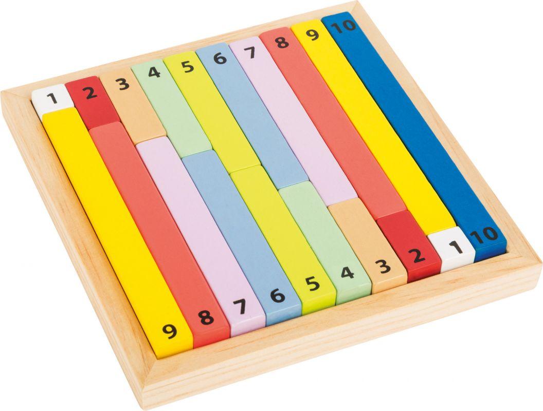 Dřevěná pomůcka tabulka - POČÍTACÍ TYČINKY Legler
