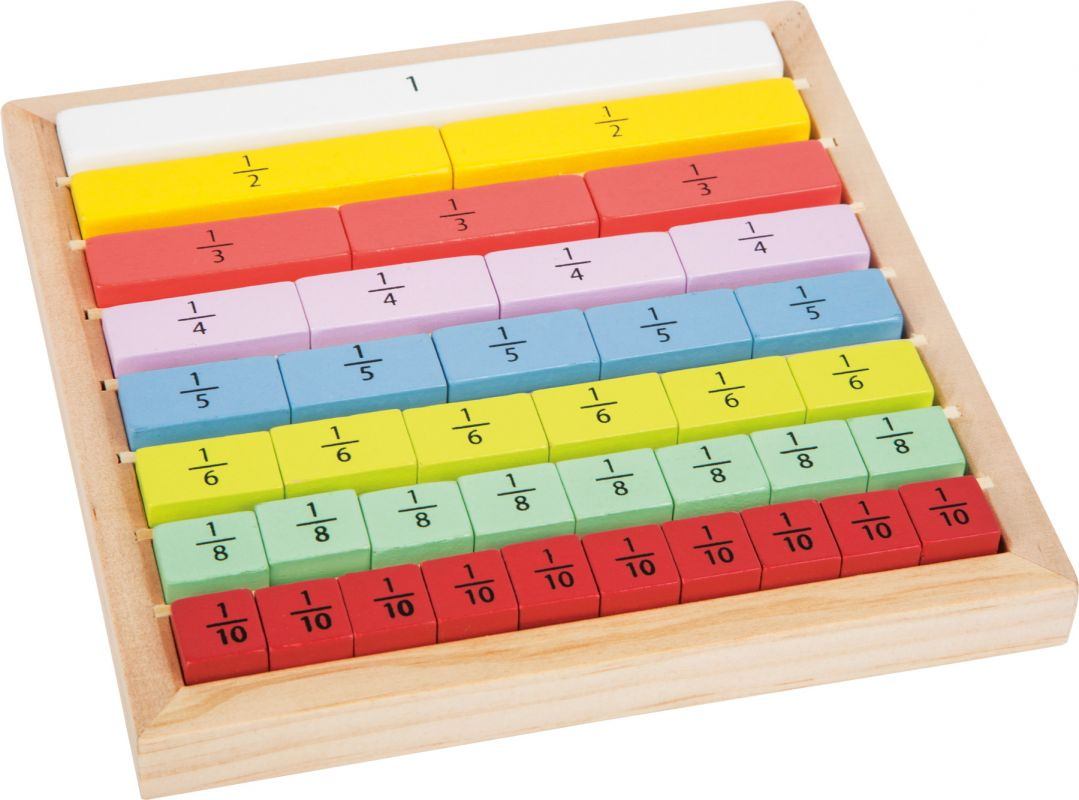 Dřevěná pomůcka tabulka - ZLOMKY Legler